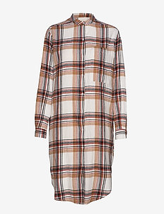 emilia shirtdress check - BURNT CHECK