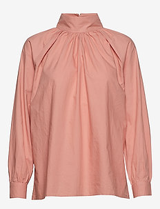 sand t-neck shirt crisp - ROSE TAN