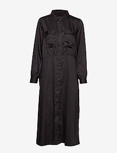 radiant shirtdress - BLACK