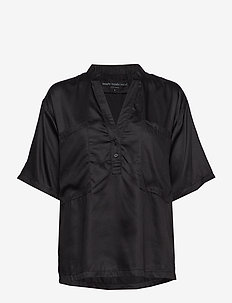 refined shirt - BLACK
