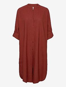 remain shirtdress crisp - skjortklänningar - warm brown