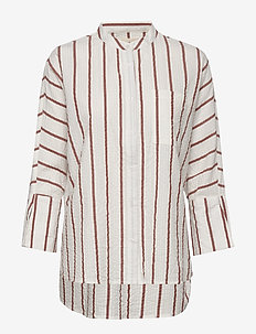 note shirt wave - long-sleeved shirts - arabian spice stripe