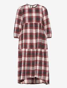 brave dress check - midi kjoler - warm check