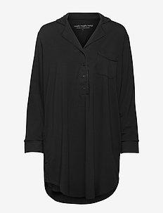 silent shirt lyocell - langermede bluser - black
