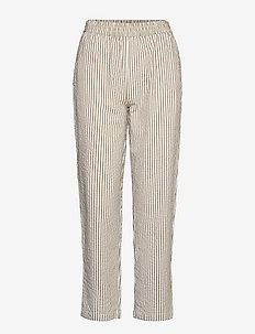 savannah pants wave - straight leg hosen - khaki stripe