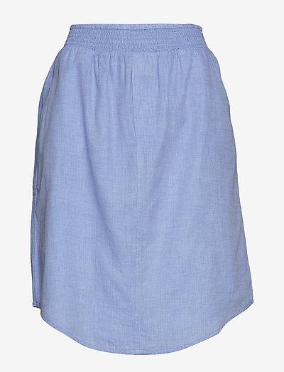 boxer skirt chambray - midi nederdele - light blue chambray