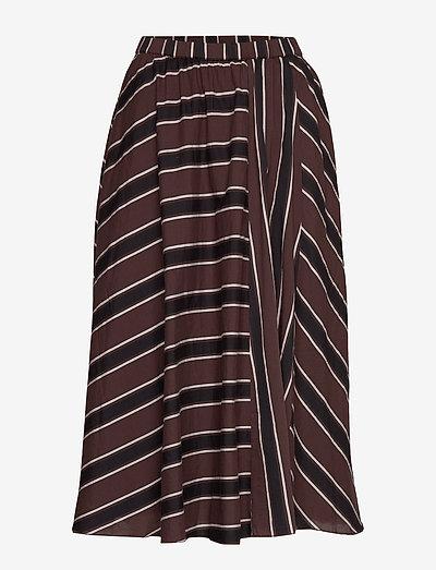 ceres skirt autumn stripe - midi nederdele - autumn stripe