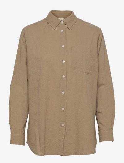 gaia shirt - denimskjorter - aloe green