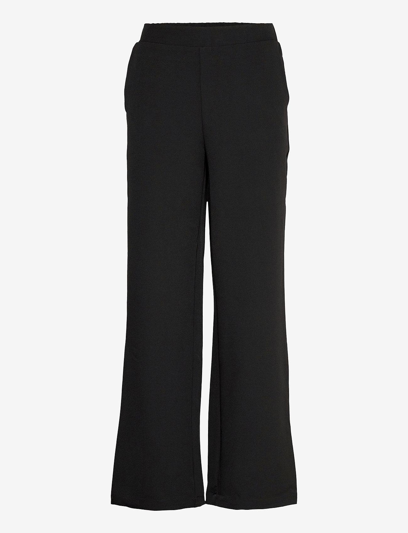 MOSS COPENHAGEN - Duna Pants - bukser med brede ben - black - 0