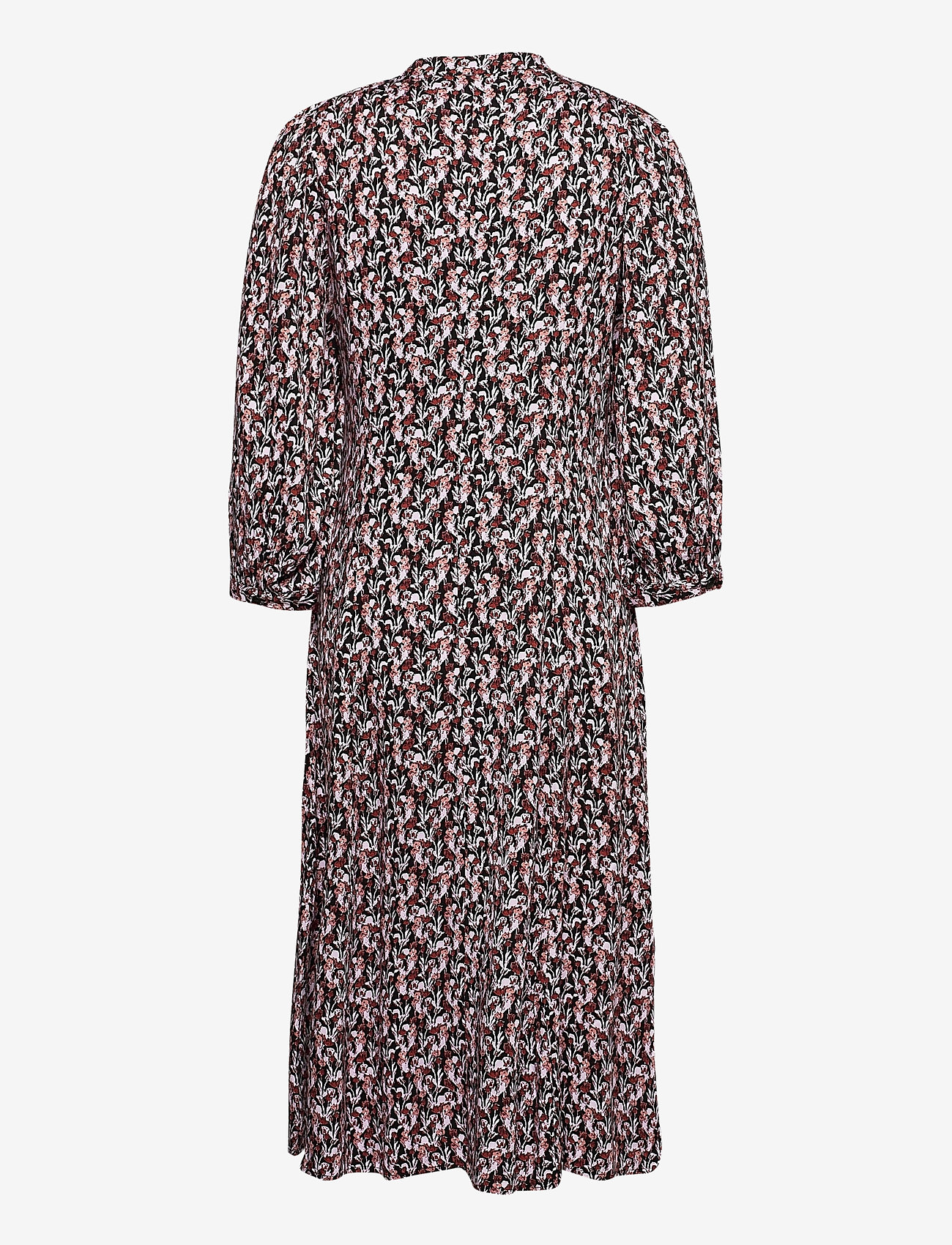 MOSS COPENHAGEN - Karola Raye 3/4 Dress AOP - alledaagse jurken - blk lavender fl - 1