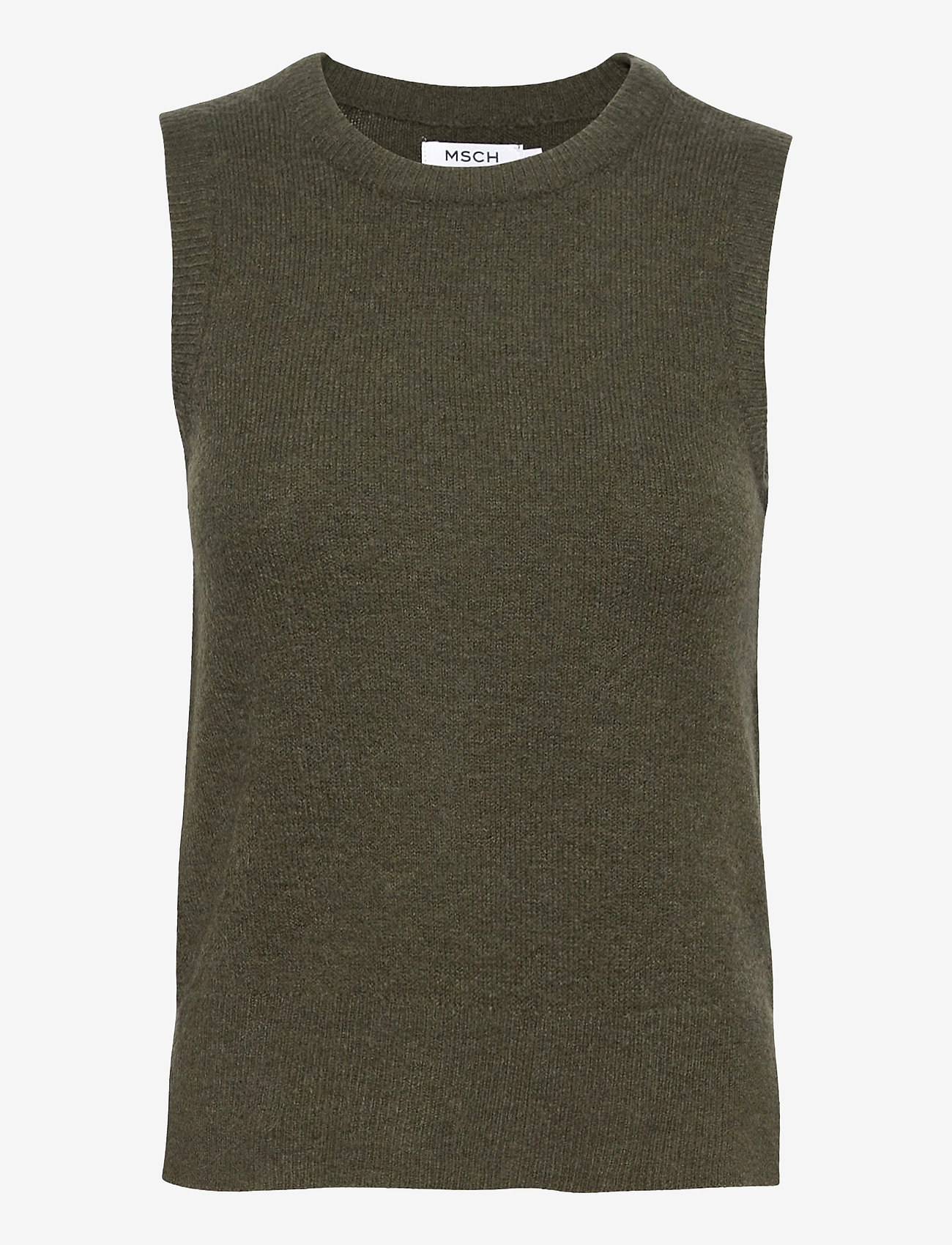 MOSS COPENHAGEN - Zenie Vest - knitted vests - army green - 0