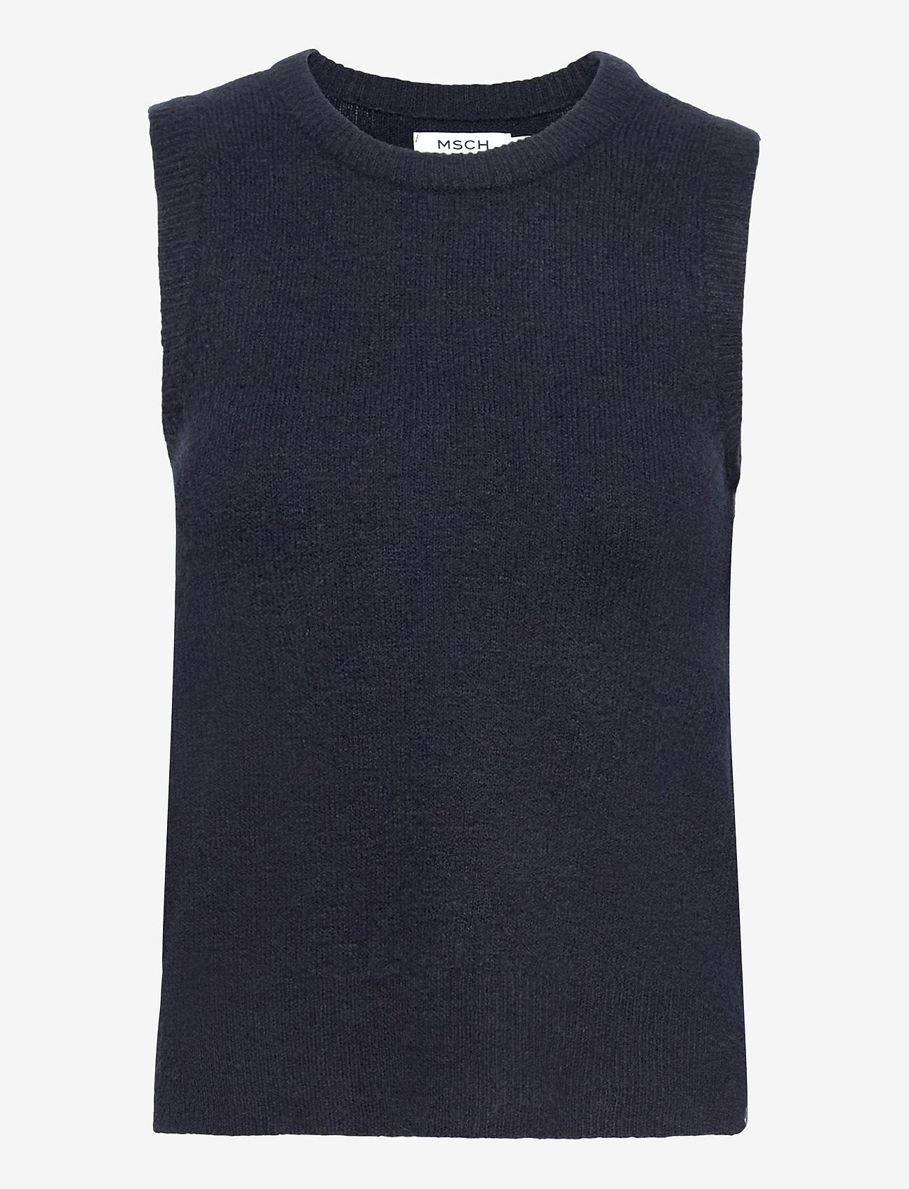 MOSS COPENHAGEN - Zenie Vest - knitted vests - sky captain - 0