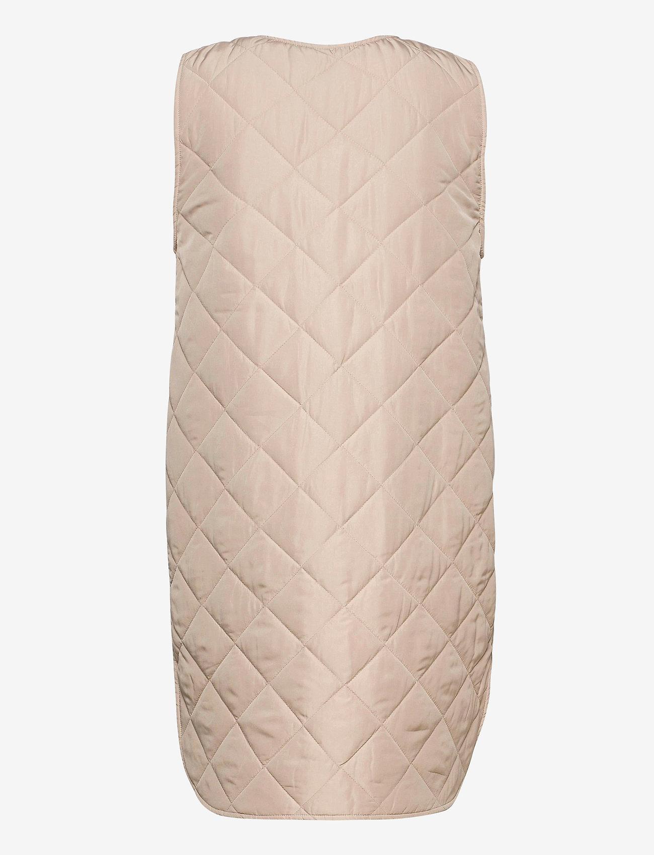 MOSS COPENHAGEN - Haven Deya Waistcoat - puffer vests - white pepper - 1