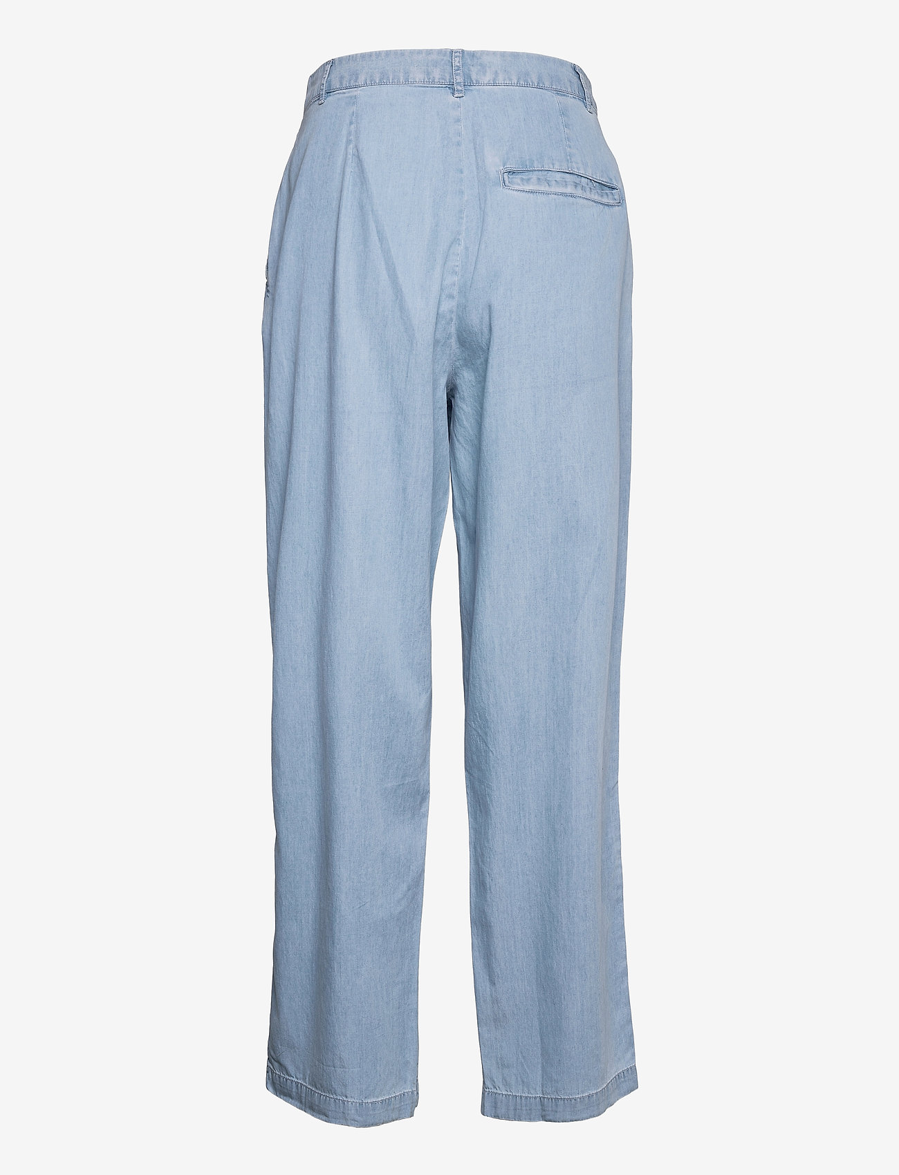 MOSS COPENHAGEN - Flikka Jaina Pants - bukser med brede ben - l blue wash - 1