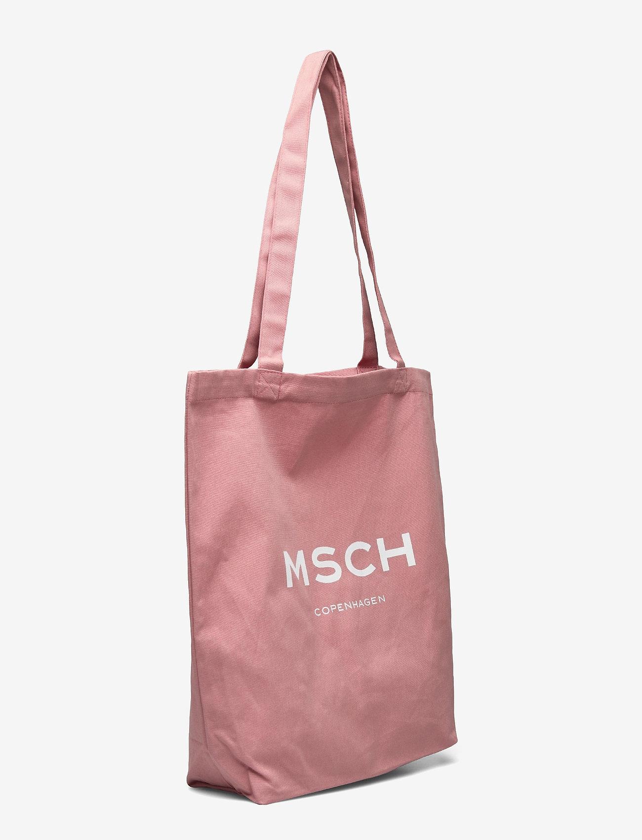 MOSS COPENHAGEN - Organic Logo Shopper - tote bags - ash rose/wht - 2