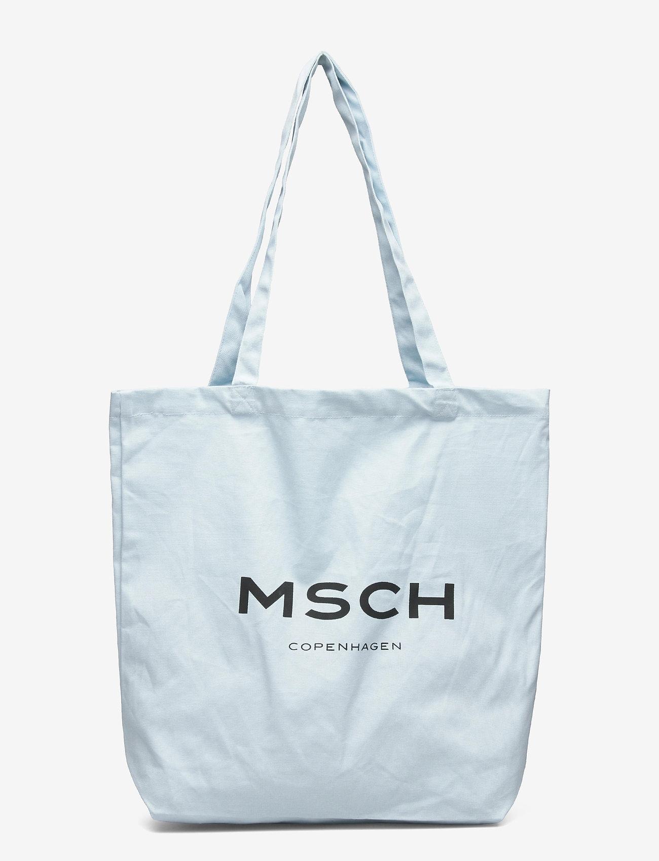 MOSS COPENHAGEN - Organic Logo Shopper - tote bags - omphalodes/sky - 0