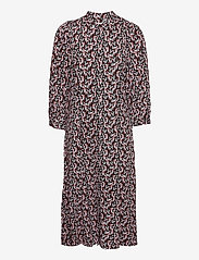 MOSS COPENHAGEN - Karola Raye 3/4 Dress AOP - alledaagse jurken - blk lavender fl - 0