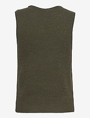 MOSS COPENHAGEN - Zenie Vest - knitted vests - army green - 1