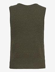 MOSS COPENHAGEN - Zenie Vest - knitted vests - army green - 1