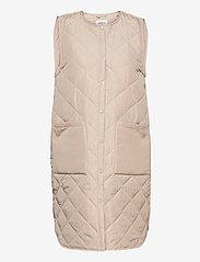 MOSS COPENHAGEN - Haven Deya Waistcoat - puffer vests - white pepper - 0