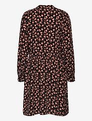 MOSS COPENHAGEN - Benna Beach LS Dress AOP - summer dresses - black flower - 1