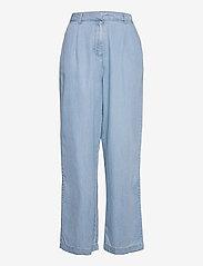 MOSS COPENHAGEN - Flikka Jaina Pants - bukser med brede ben - l blue wash - 0