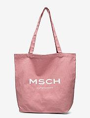 MOSS COPENHAGEN - Organic Logo Shopper - tote bags - ash rose/wht - 0