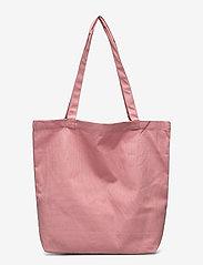 MOSS COPENHAGEN - Organic Logo Shopper - tote bags - ash rose/wht - 1
