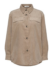 Charis Jeppi Overshirt - WHITE PEPPER