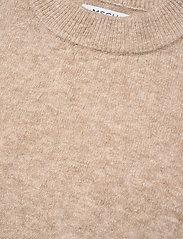 MOSS COPENHAGEN - Cardea Zenie Long Vest - knitted vests - sand melange - 3