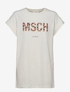 Alva MSCH EST Tee - t-shirts - egret/merila pr