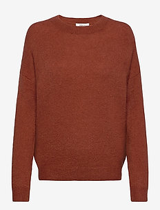 Femme Mohair O Pullover - jumpers - barn red