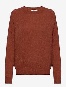 Femme Mohair O Pullover - tröjor - barn red