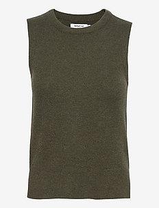 Zenie Vest - knitted vests - army green