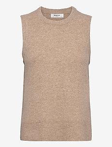 Zenie Vest - knitted vests - sand melange