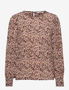 Merila Rikkelie LS Top AOP - long sleeved blouses - black dots