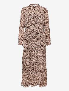 Merila Rikkelie LS Maxi Dress AOP - maxi dresses - black dots