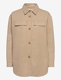 Maude Jacket - overshirts - white pepper