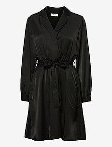 Nille LS Dress - robes portefeuille - black