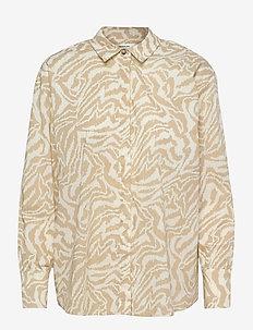 Kacee LS Shirt AOP - long-sleeved shirts - w pepper zebra