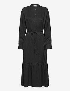 Norine Stephie LS Dress - blousejurken - black