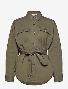 Lemony Overshirt - overshirts - grape leaf