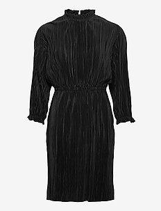 Agneta 3/4 Dress - korte kjoler - black
