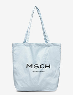 Organic Logo Shopper - tote bags - omphalodes/sky
