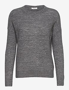 Femme Mohair O Pullover - truien - medium grey melange