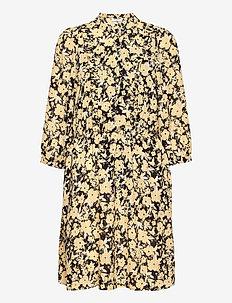 Jenessa Frix 3/4 Dress AOP - sukienki letnie - black flwr