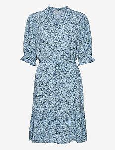 Fadea Jalina 3/4 Dress AOP - sommerkjoler - p blue flower