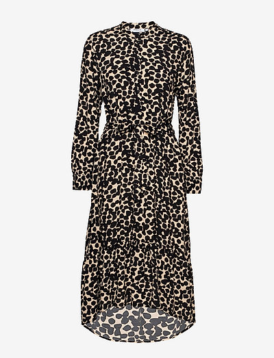 Bahira Jalina Long Dress AOP - robes d'été - semolina dot