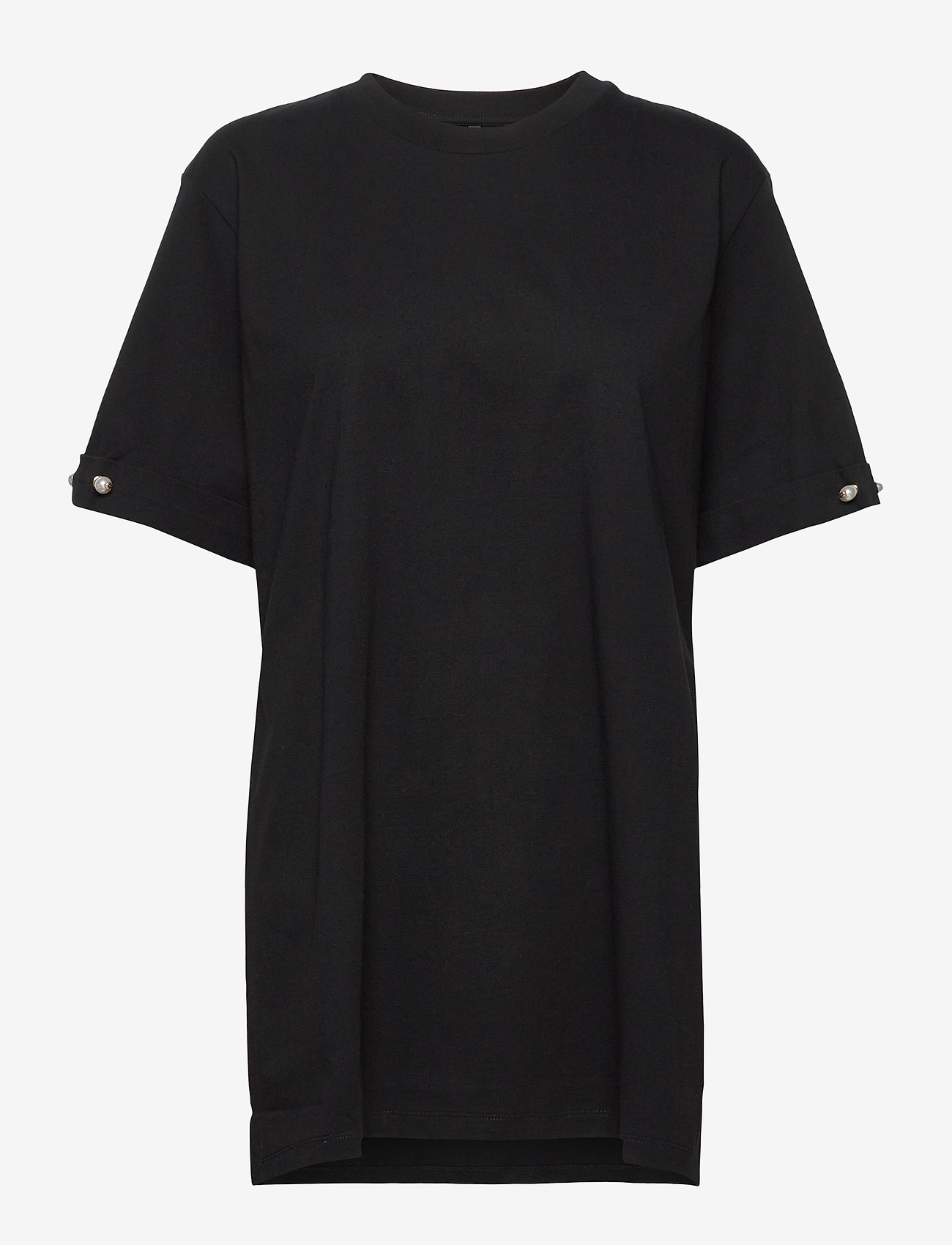 Mother of Pearl - MINTIE OVERSIZED T-SHIRT WITH PEARL BAR - t-shirts - black - 0