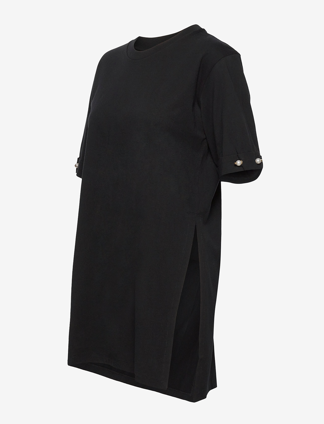 Mother of Pearl - MINTIE OVERSIZED T-SHIRT WITH PEARL BAR - t-shirts - black - 2